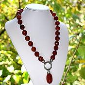Работы для детей, handmade. Livemaster - original item Beads made from natural stone with pendant. Handmade.