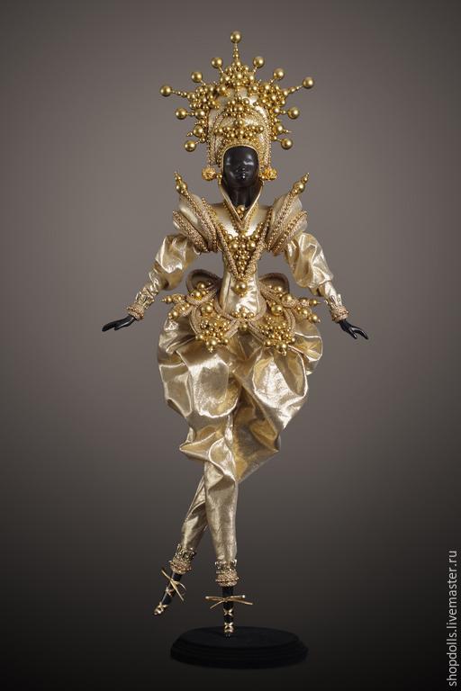 Коллекционные куклы ручной работы. Ярмарка Мастеров - ручная работа. Купить Кукла Принц восточный в золотом. Handmade. Золотой