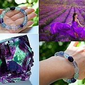 Украшения handmade. Livemaster - original item Women`s bracelet with natural fluorite. Handmade.