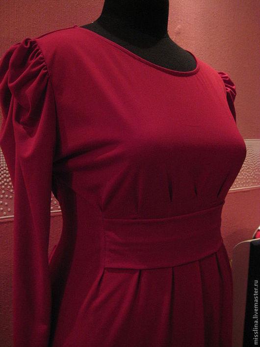 """Платья ручной работы. Ярмарка Мастеров - ручная работа. Купить Платье """"Бордо"""". Handmade. Бордовый, платье, большой размер, красный"""