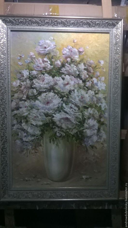 Картины цветов ручной работы. Ярмарка Мастеров - ручная работа. Купить цвете. Handmade. Кремовый, цветы