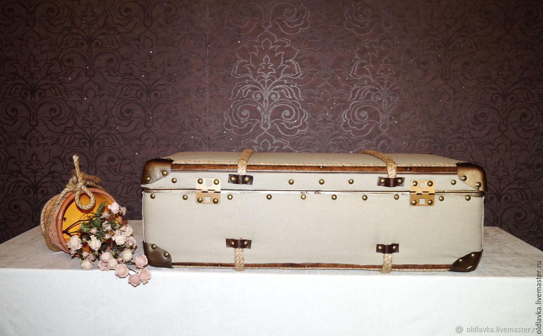 Большой льняной чемодан