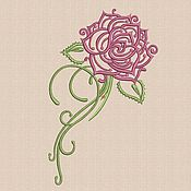 """Материалы для творчества handmade. Livemaster - original item Machine embroidery designs """"Rose_2"""" bt039. Handmade."""