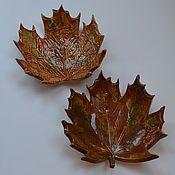Посуда ручной работы. Ярмарка Мастеров - ручная работа Кленовые листья. Handmade.