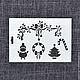 ТР-05-001. Трафарет для декупажа `Рождество`. Отлично подойдет для оформления новогодних подарков!