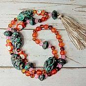 handmade. Livemaster - original item Jungle beads, boho. Handmade.
