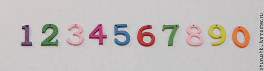 Открытки и скрапбукинг ручной работы. Ярмарка Мастеров - ручная работа. Купить Деревянные цифры. Handmade. Цифры, деревянные цифры, фанера