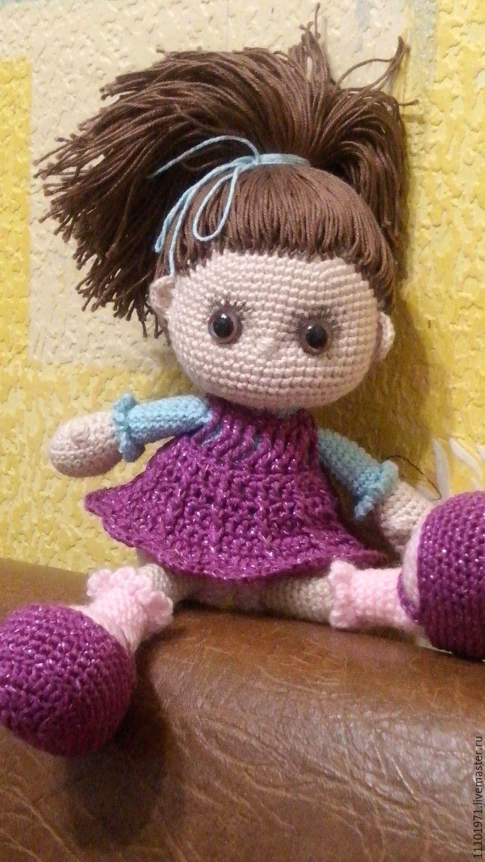 Волосы для вязаных кукол своими руками