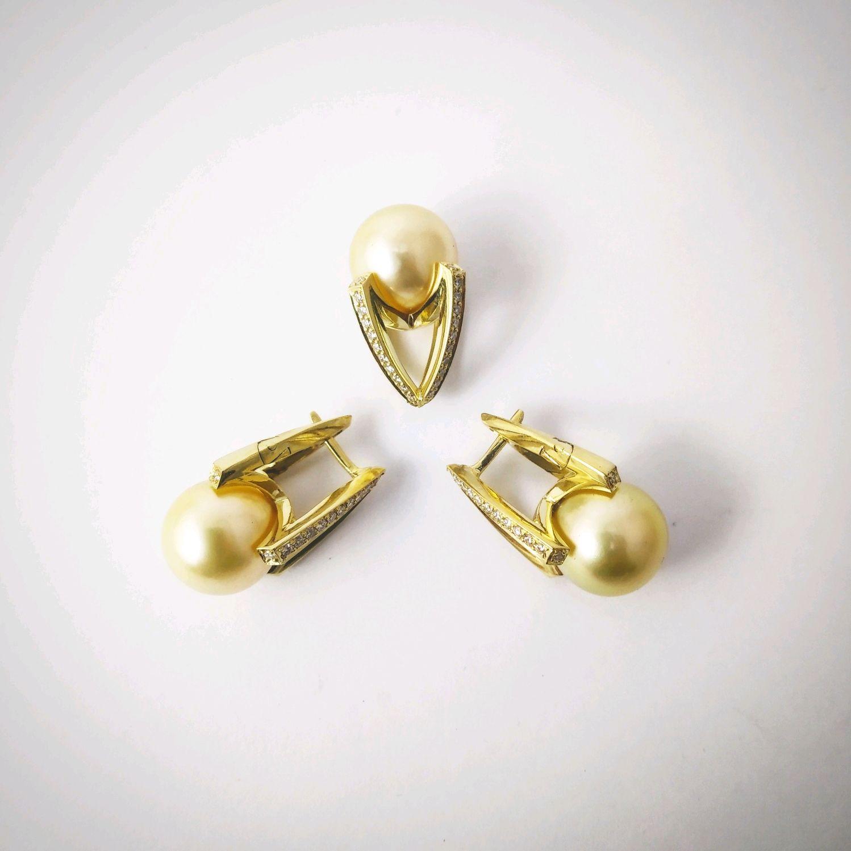 Earrings with pearls, Earrings, Samara,  Фото №1