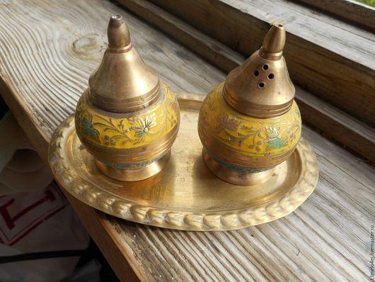 Винтажная посуда. Ярмарка Мастеров - ручная работа. Купить Индийские солонки. Handmade. Набор солонок, латунь