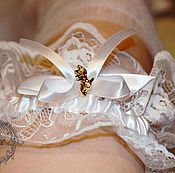 Одежда handmade. Livemaster - original item Wedding garter FOR THE BRIDE. Handmade.