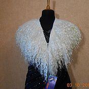 handmade. Livemaster - original item Collar-boa Bride. ECO-FUR fleece feather goat.. Handmade.