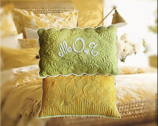 Набор декоративных подушек Моя Радость Подушки из хлопка с ручной аппликацией