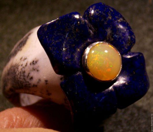 Кольца ручной работы. Ярмарка Мастеров - ручная работа. Купить Цветок мироздания. Handmade. Комбинированный, кольцо из дендроопала