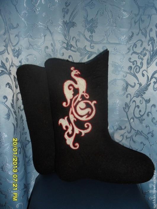 """Обувь ручной работы. Ярмарка Мастеров - ручная работа. Купить Валенки женские расписные """" BOSCA"""".. Handmade. Черный"""
