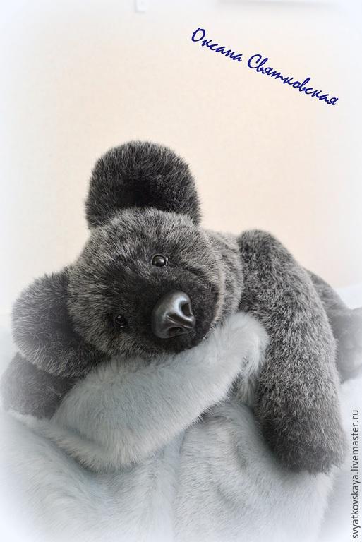 Мишки Тедди ручной работы. Ярмарка Мастеров - ручная работа. Купить Мишка Грей. Handmade. Темно-серый, реалистичный медведь