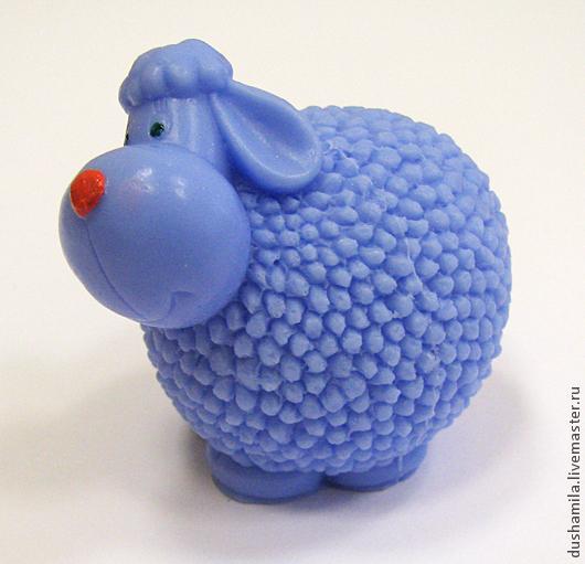 Мыло ручной работы. Ярмарка Мастеров - ручная работа. Купить Мыло Овечка-шарик. Handmade. Голубой, овечка Тильда