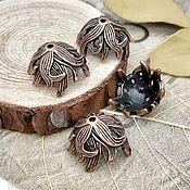 Материалы для творчества handmade. Livemaster - original item Caps for beads 10x15x15 mm under COPPER (2591). Handmade.