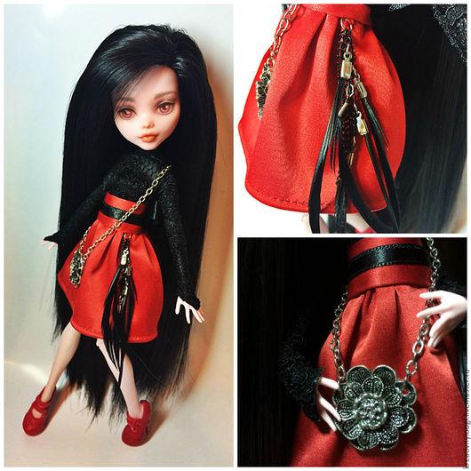 Коллекционные куклы ручной работы. Ярмарка Мастеров - ручная работа. Купить OOAK Monster High. Handmade. Черный, ooak, пастель