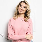 Одежда ручной работы. Ярмарка Мастеров - ручная работа Розовый кашемировый свитер. Handmade.