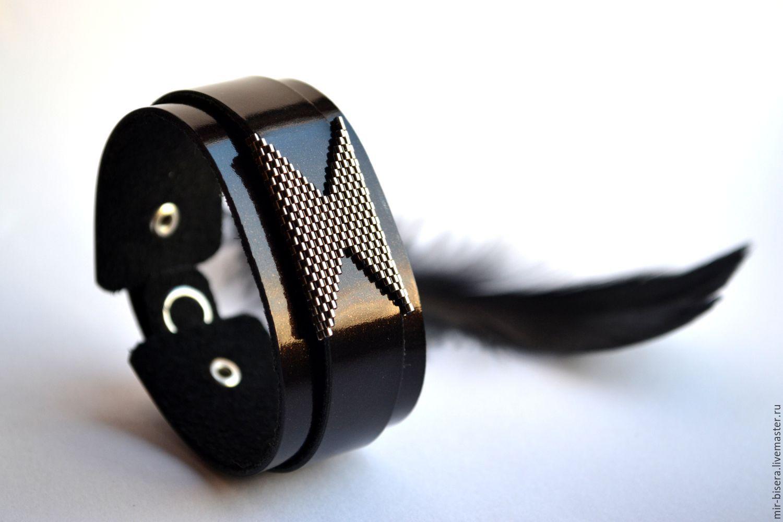 Стильный кожаный браслет. Шоколадный. Коричневый. Серебряный