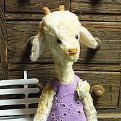 Куклы и игрушки ручной работы. Ярмарка Мастеров - ручная работа Жирафовидная козочка Белочка. Handmade.