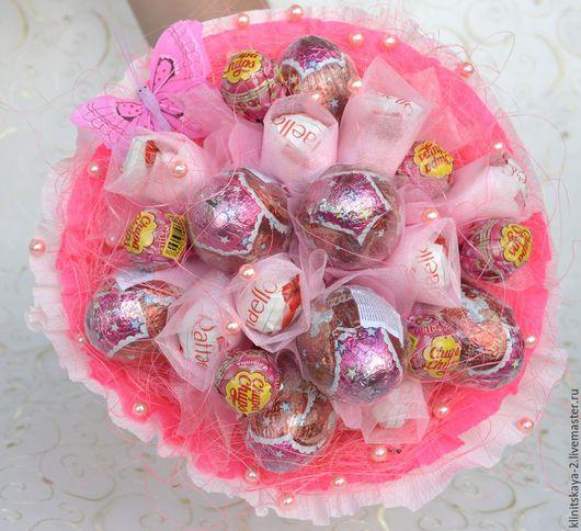 Букеты ручной работы. Ярмарка Мастеров - ручная работа. Купить Букет из конфет, букет из киндеров,подарок девочке, девушке!. Handmade.