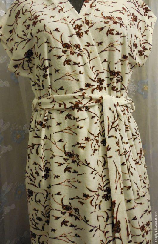"""Халаты ручной работы. Ярмарка Мастеров - ручная работа. Купить Халат """"Веточка"""". Handmade. Белый, натуральные материалы, для девушки для женщины"""