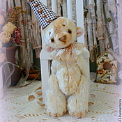 Куклы и игрушки ручной работы. Ярмарка Мастеров - ручная работа Мишка-тедди Франтишек (экрю). Handmade.