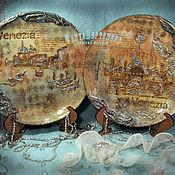Plates handmade. Livemaster - original item Set of plates ENCHANTMENT of VENICE (2 PCs). Handmade.