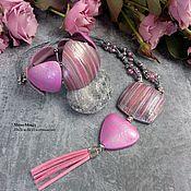 Украшения handmade. Livemaster - original item Set Pink. Handmade.