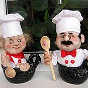 Подарки к праздникам ручной работы. Ярмарка Мастеров - ручная работа Кукла Поваренок в кружке. Handmade.