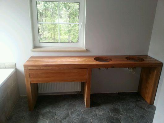 Мебель ручной работы. Ярмарка Мастеров - ручная работа. Купить Тумба из Дуба под мойку. Handmade. Массив дуба