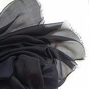 Аксессуары ручной работы. Ярмарка Мастеров - ручная работа Шарф черный шелковый. Handmade.