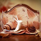 """Канцелярские товары ручной работы. Ярмарка Мастеров - ручная работа Карандашница """"Осенний дождь мне музыкой звучит..."""". Handmade."""