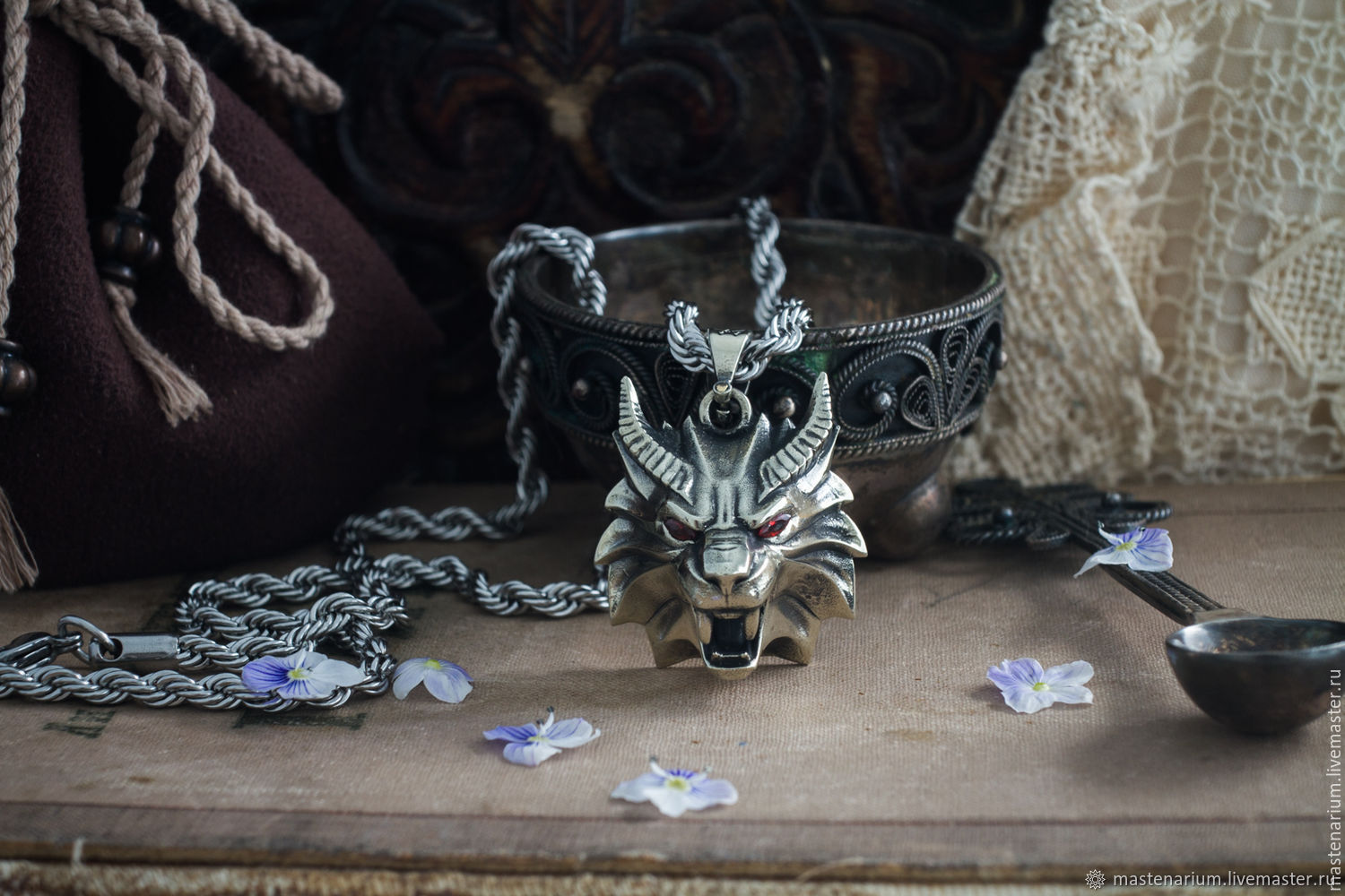 Manticore Pendant. The Medallion Of The Witcher. The Witcher silver silver, Pendant, Moscow,  Фото №1