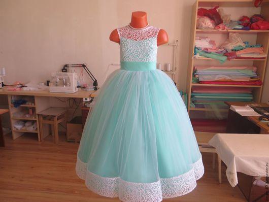 Одежда для девочек, ручной работы. Ярмарка Мастеров - ручная работа. Купить Нарядное платье для девочки. Handmade. Белый, платье для девочки