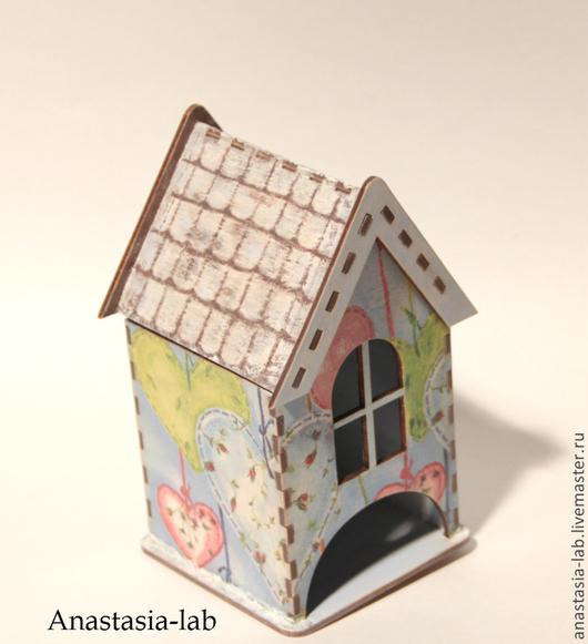 """Кухня ручной работы. Ярмарка Мастеров - ручная работа. Купить Чайный домик """"Весна"""". Handmade. Голубой, сердце декупаж"""