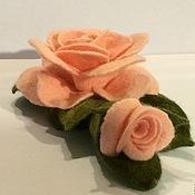 Украшения ручной работы. Ярмарка Мастеров - ручная работа Брошь розовая с бутоном. Handmade.