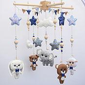 Работы для детей, handmade. Livemaster - original item Mobiles on the crib for the boy