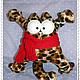 Игрушки животные, ручной работы. Ярмарка Мастеров - ручная работа. Купить Кот Саймона в машину. Текстильный кот с шарфом. Handmade.