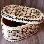 Для дома и интерьера handmade. Livemaster - original item Bread braided birch bark. Big box. Box birch bark. Handmade.