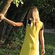"""Платья ручной работы. Платье """"Абстракция в желтом"""". Вязание на заказ Magic-vereteno. Интернет-магазин Ярмарка Мастеров. Кружево, желтый"""