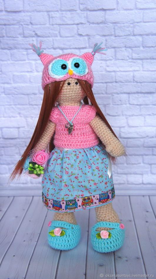 Коллекционные куклы ручной работы. Ярмарка Мастеров - ручная работа. Купить Кукла Микка крючком. Handmade. Разноцветный, куколка на счастье