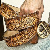 Аксессуары handmade. Livemaster - original item Mens leather belt handmade. Handmade.