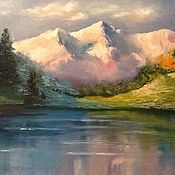 Картины и панно ручной работы. Ярмарка Мастеров - ручная работа Розовые горы.... Handmade.