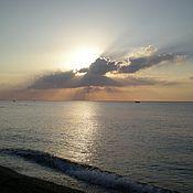 Картины и панно ручной работы. Ярмарка Мастеров - ручная работа Фото картина - Море рассвет. Handmade.