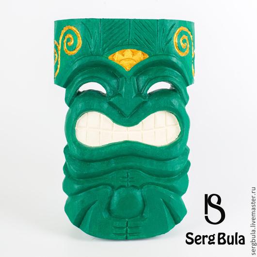 Интерьерные  маски ручной работы. Ярмарка Мастеров - ручная работа. Купить Гавайский Тики леса. Handmade. Зеленый, декор для интерьера