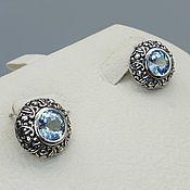 Украшения handmade. Livemaster - original item Silver earrings with Topaz. Handmade.