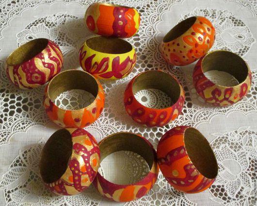 Комплекты аксессуаров ручной работы. Ярмарка Мастеров - ручная работа. Купить Кольца для салфеток,  6 или 12  колец. Handmade.